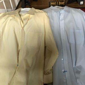 2 Men's  Dress Shirts